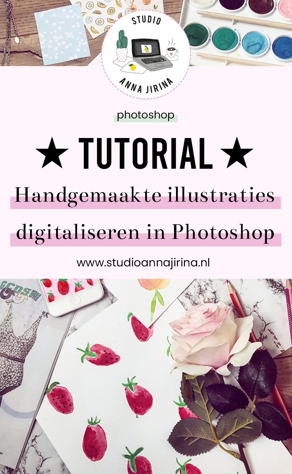 illustraties digitaliseren in Photoshop