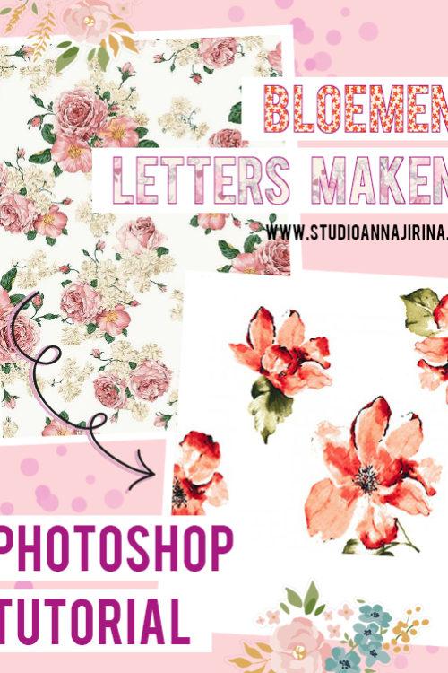 Photoshop tutorial: Bloemen letters maken