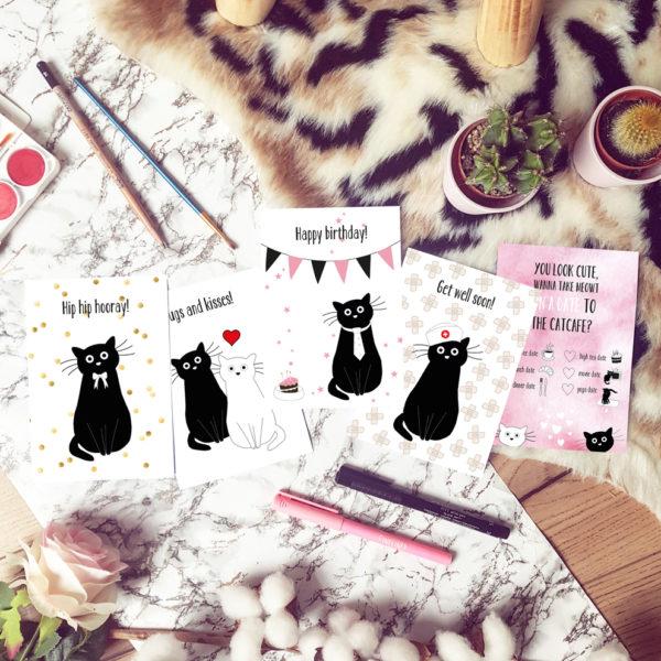 Ansichtkaarten voor Kattencafé Op Z'n Kop