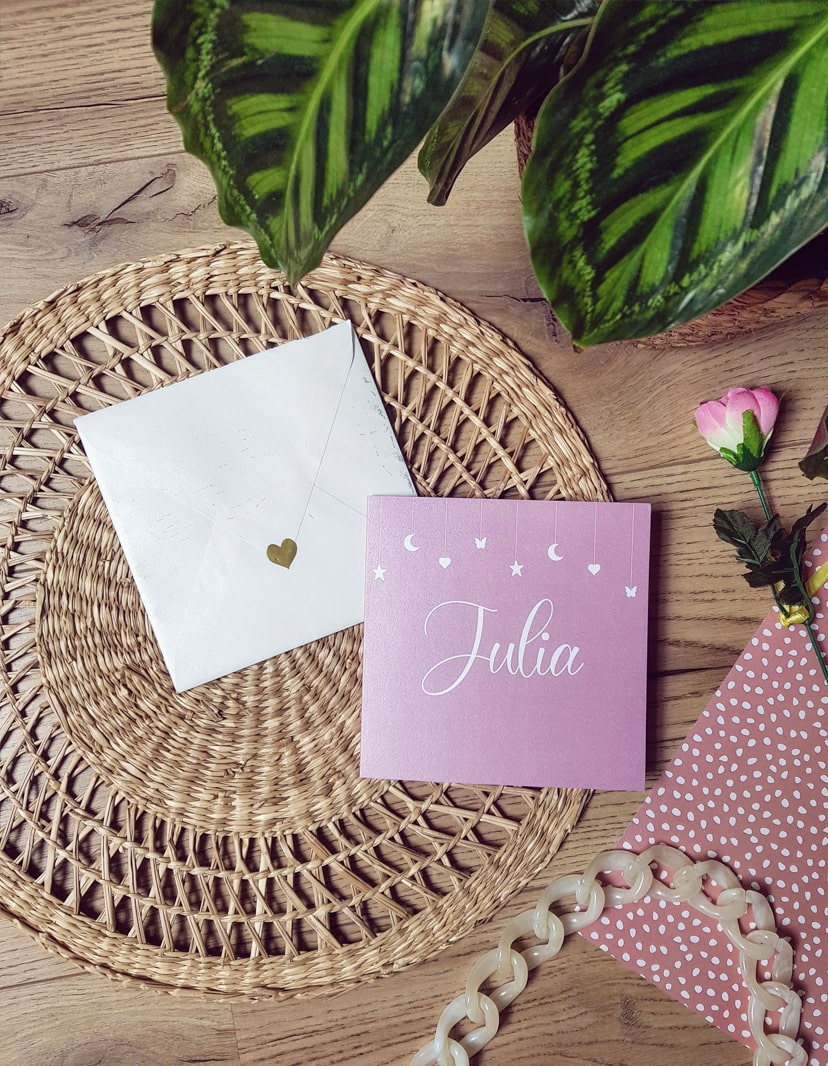 geboortekaartje op maat Julia