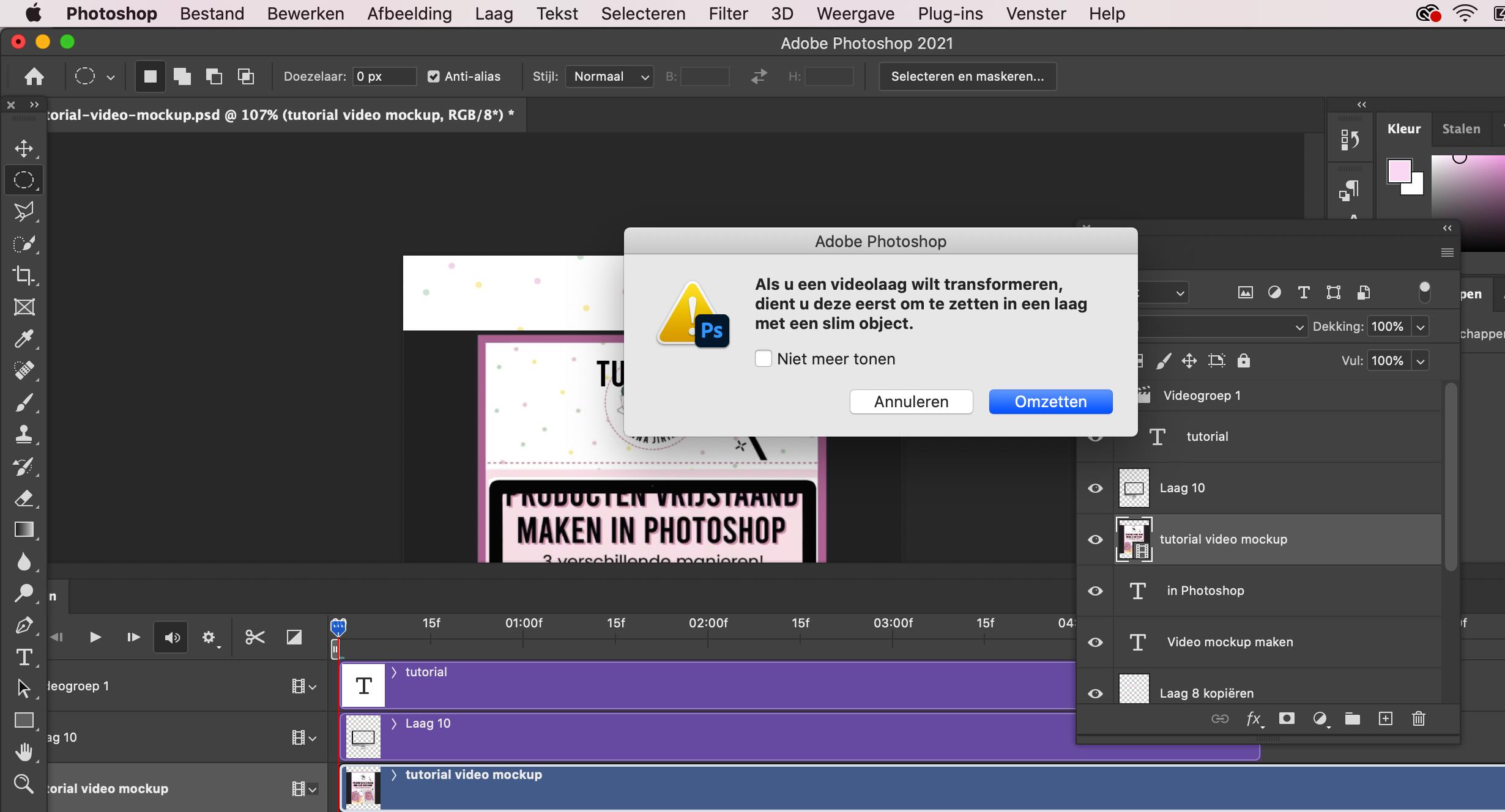 videotijdlijn Photoshop