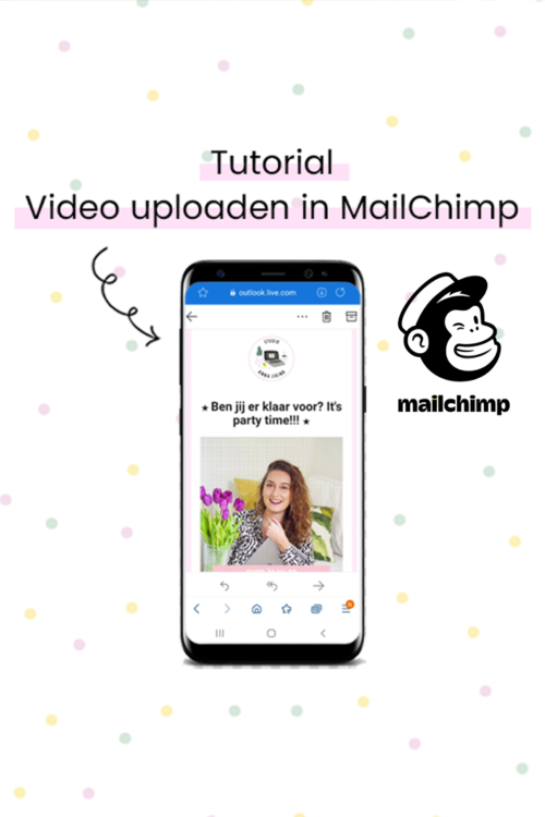 video uploaden in mailchimp