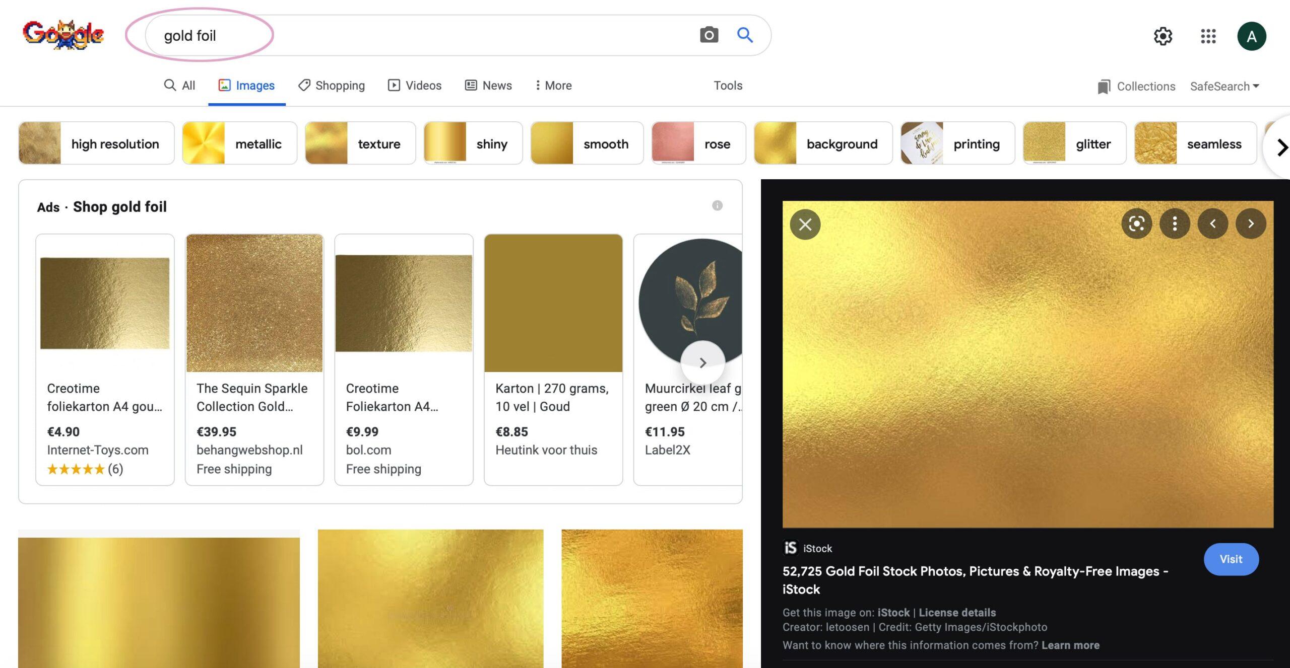 gouden confetti maken