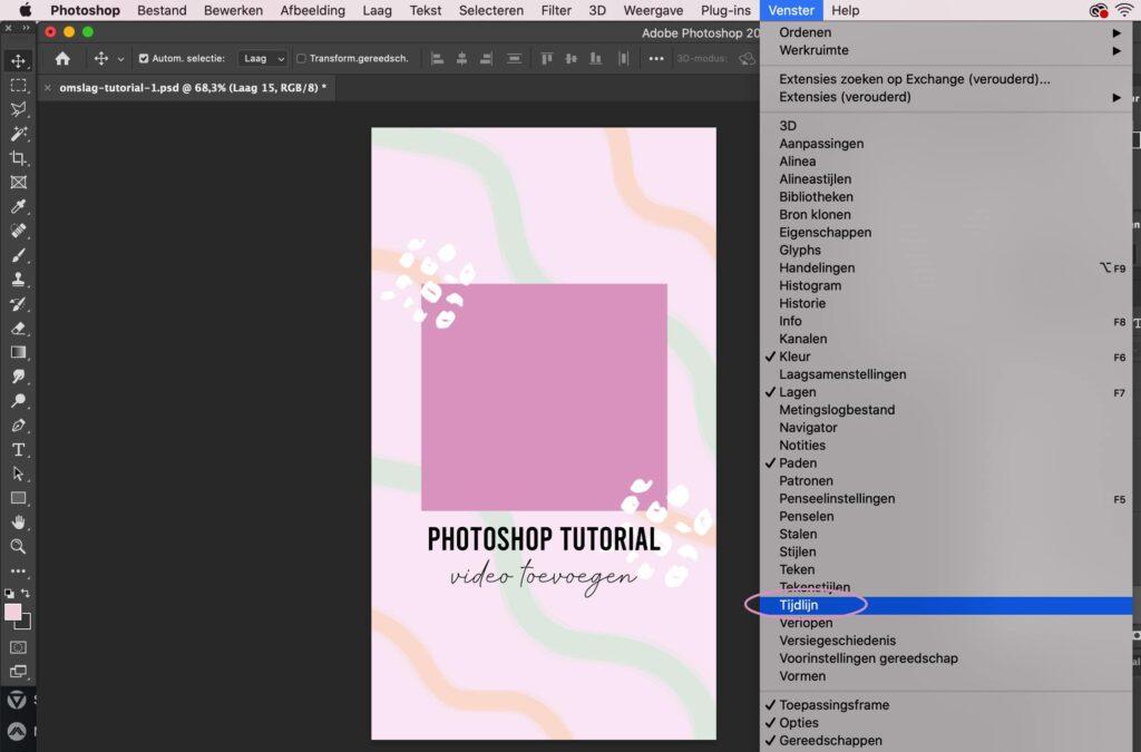 video toevoegen in Photoshop